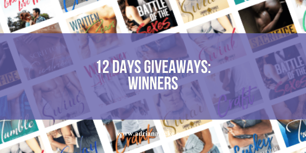 12 Days Giveaways: Winners