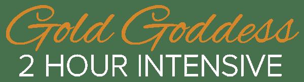 Gold Goddess Logo - WEB WHITE