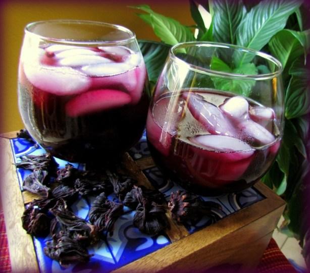 Roselle Water or Jamaica Agua Fresca