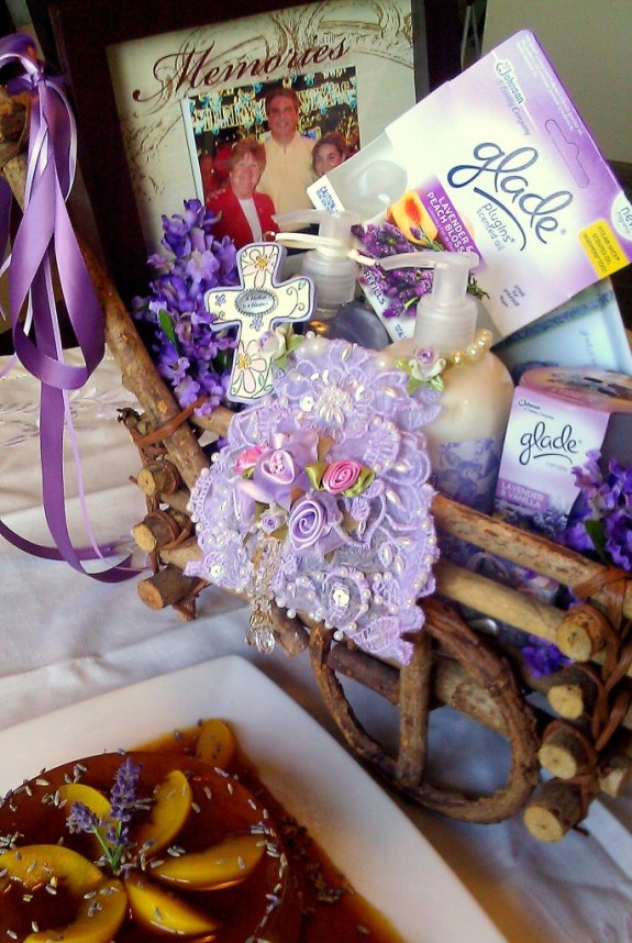 Lavender and Peach Flan Mothers Gift