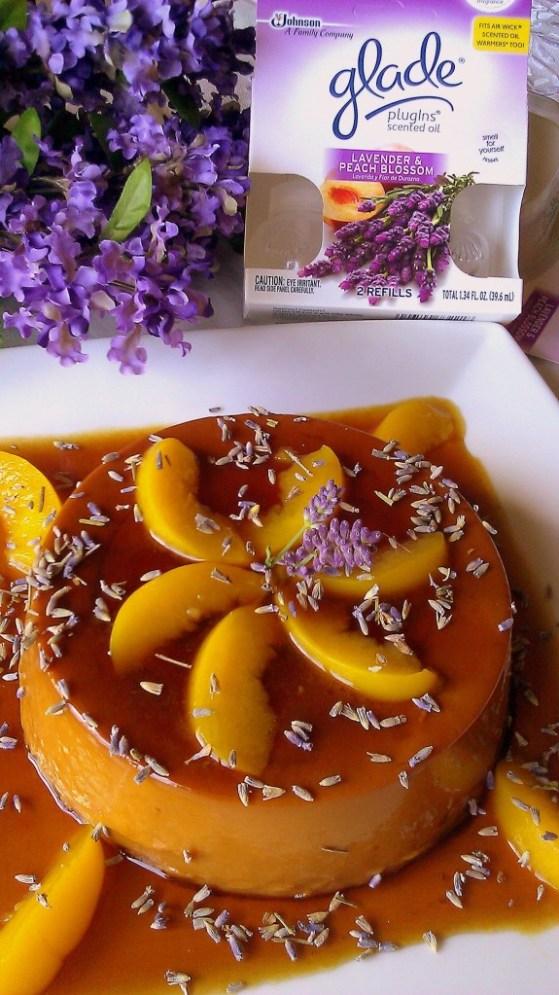 Lavender and Peach Flan