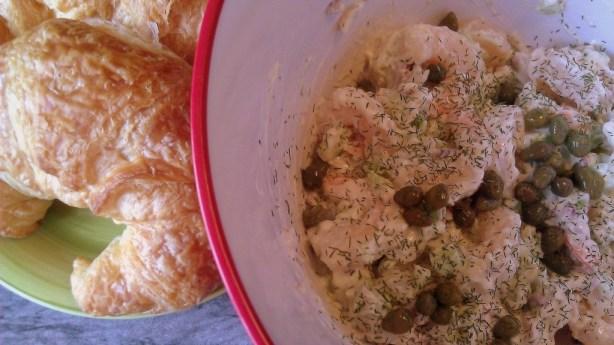 Shrimp Salad Croissant Preparation