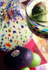 Avocado Love Margarita serving presentation