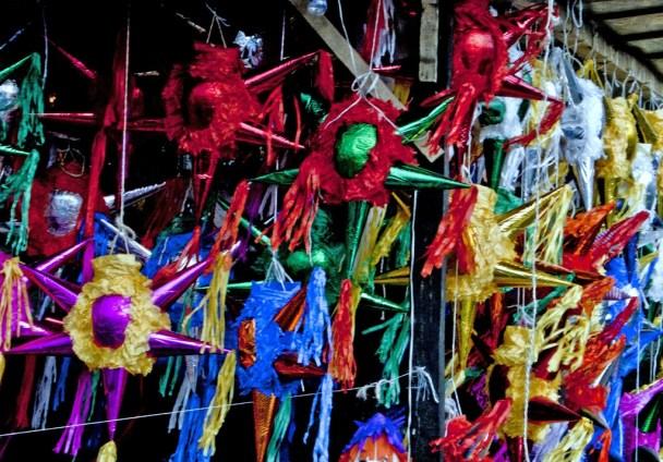 Traditional Piñatas used for Las Posadas