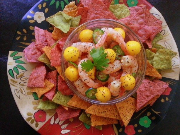 Serving suggestion for the UMAMI Shrimp Ceviche