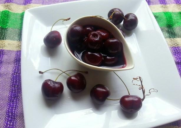 Vino de Chocolate y Cerezas