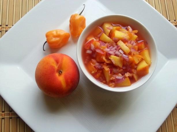 Habanero Peach Salsa
