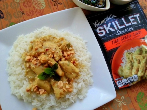 Thai Chicken Green Curry with Campbells Skillet sauces #dinnersauces