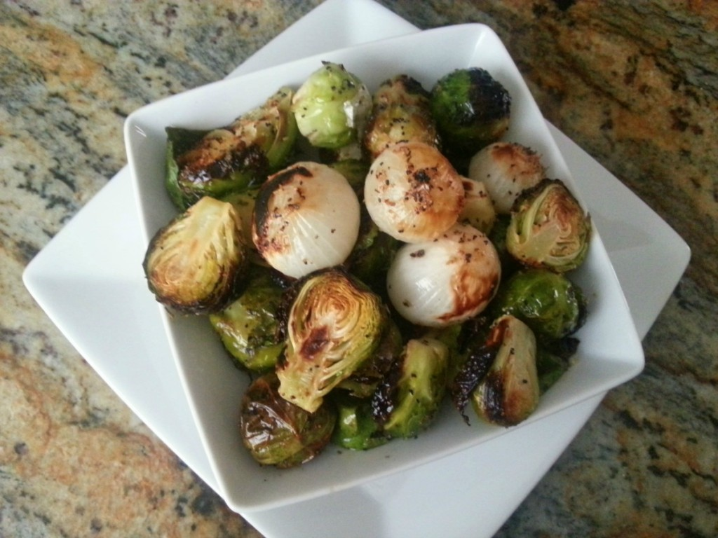 Grilled Brussels Sprouts and Onions tasty side dish for any occasion #ABRecipes