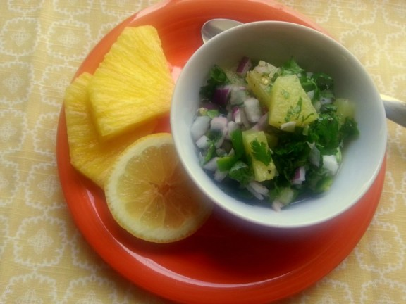 Pineapple Jalapeño Salsa a great idea to add to your grilled dishes and tacos