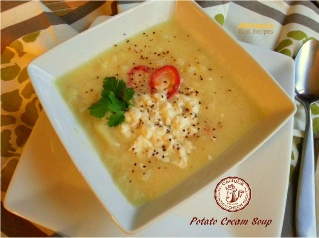Potato Cream Soup #ABRecipes #AuténticoCheeseSociety