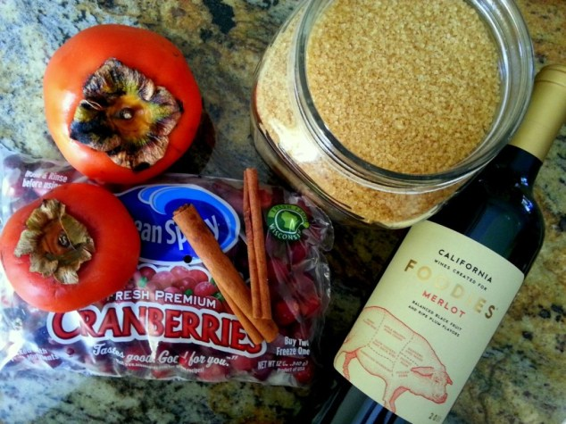 Ingredients for preparing the Cranberry Sauce with Persimmon #ABRecipes