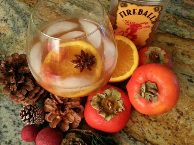 Persimmon Cocktail with Cinnamon Whiskey #ABRecipes