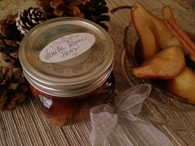 Vanilla Rum Pears as a holiday gift #ABRecipes