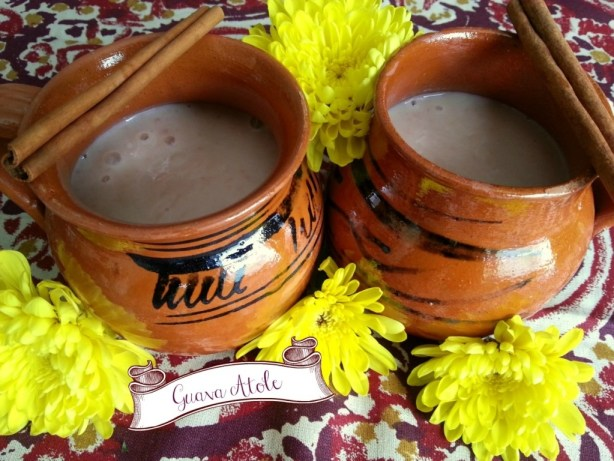 Serve the Guava Atole Hot and enjoy with a slice of Rosca de Reyes #ABRecipes