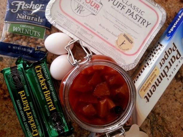 Ingredients for preparing quince cheddar strudel #KraftyCooking #ABRecipes