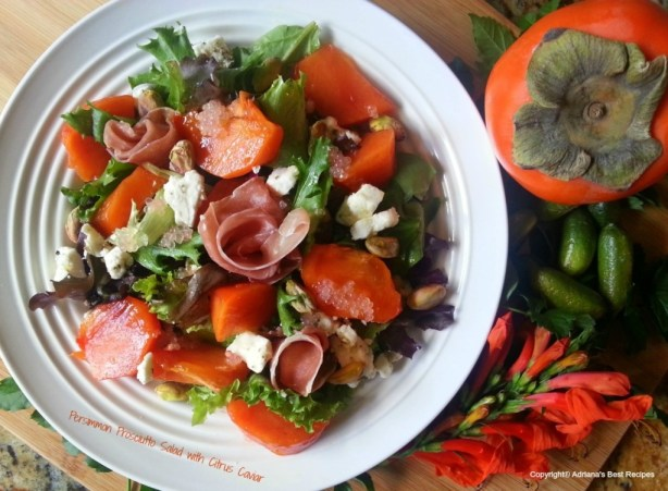 Persimmon Prosciutto Salad #ABRecipes