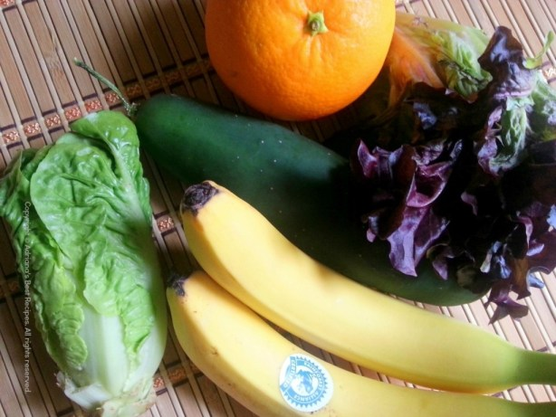 Ingredients to prepare my favorite green juice smoothie #ABRecipes