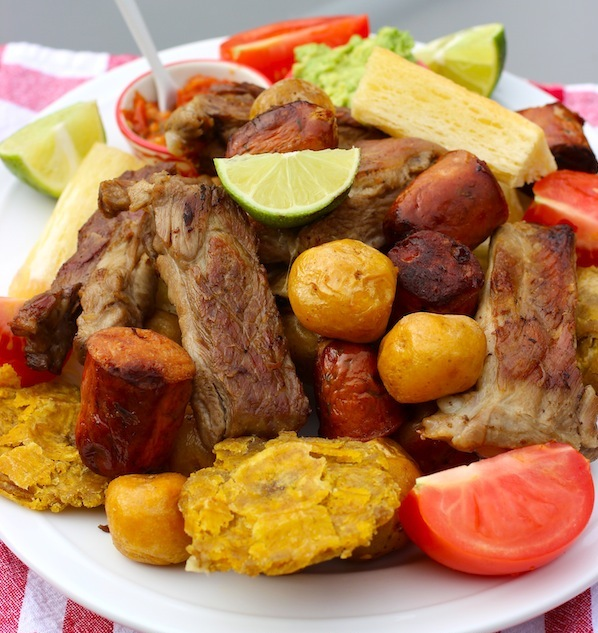 Picada o Fritanga. Original recipe from My Colombian Recipes. Photo Credit Erica Dinho. All rights reserved.