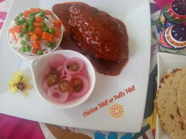 Chicken Pibil or Pollo Pibil #ABRecipes