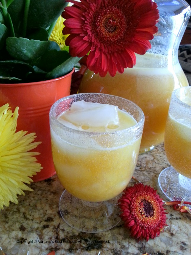 Happy Cinco de Mayo cheering with Passion Fruit Agua Fresca #ABRecipes