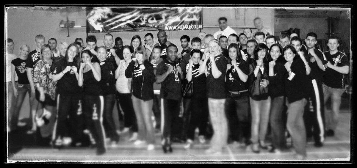 Fu Jau Kickboxing & Martial Arts Academy in Slough Berkshire celebrating after wining competition
