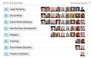 linkedin endorcements