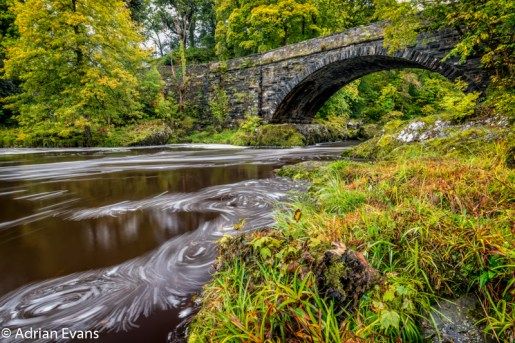Beaver Bridge & Pool Betws y Coed River Conwy Snowdonia National Park North Wales. UK