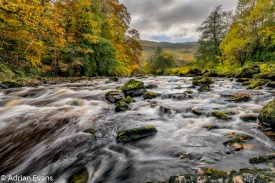 Autumn at the conwy river near Betws-y-Coed, north Wales, UK