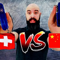 Comparativa Victorinox Huntsman VS multiusos china