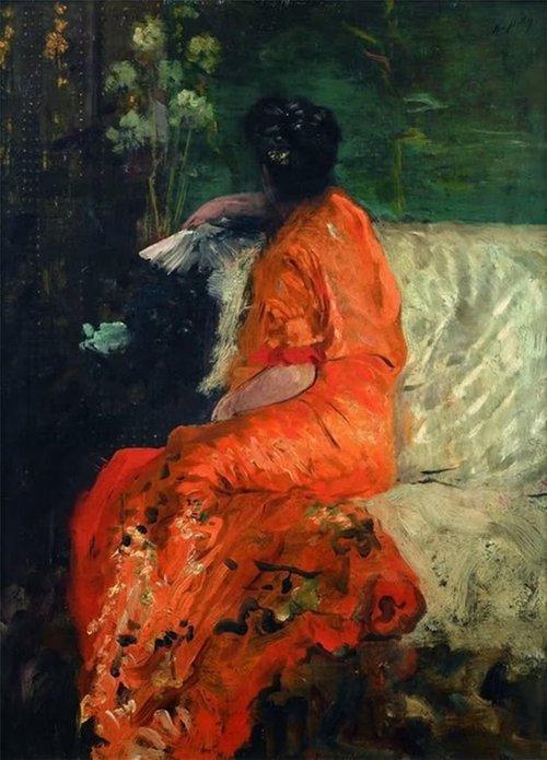 Giuseppe de Nittis, Kimono arancione, 1883-1884
