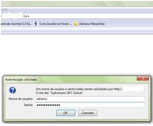 Autenticação do usuário na Instalação SVN