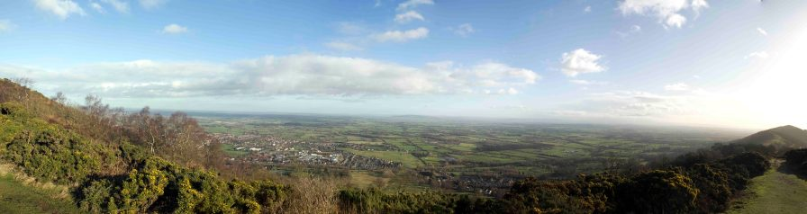 Panoramic view from Worcestershire Beacon