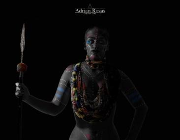 Fotografía Guerrera Masai