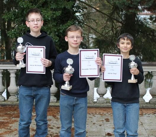 Siegerehrung Mittelfränkische Meisterschaft Turnierschach U14 2013