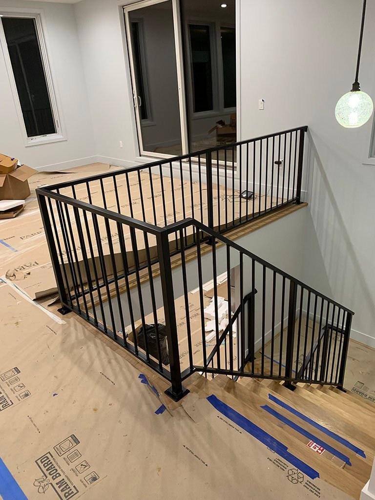 Iron Railings Deck Railings Guard Rails Porch Rails   Black Iron Railing Indoor   Iron Balusters   Railing Ideas   Staircase   Paint   Handrail Stairs