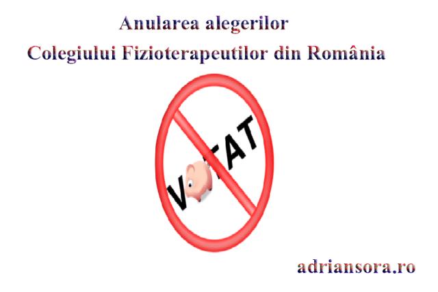 Anularea alegerilor Colegiului Fizioterapeuților din România