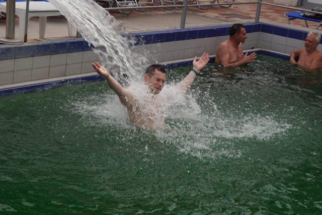 strand cu apă termală