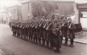 Postcard of the Liverpool Scottish at Tunbridge Wells November 1914.