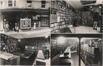 Hall's Bookshop postcard circa 1940s.