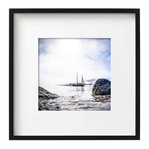 Arktika East Greenland Morning Mist Black Square Frame