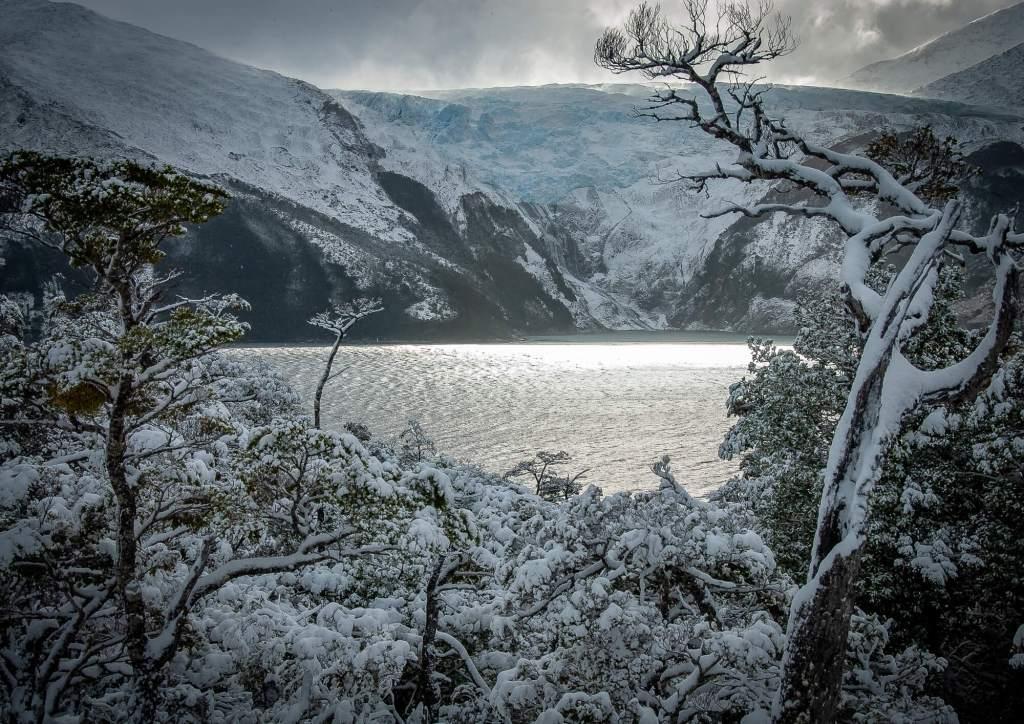 Romanche Glacier Snow Beagle Channel Chile