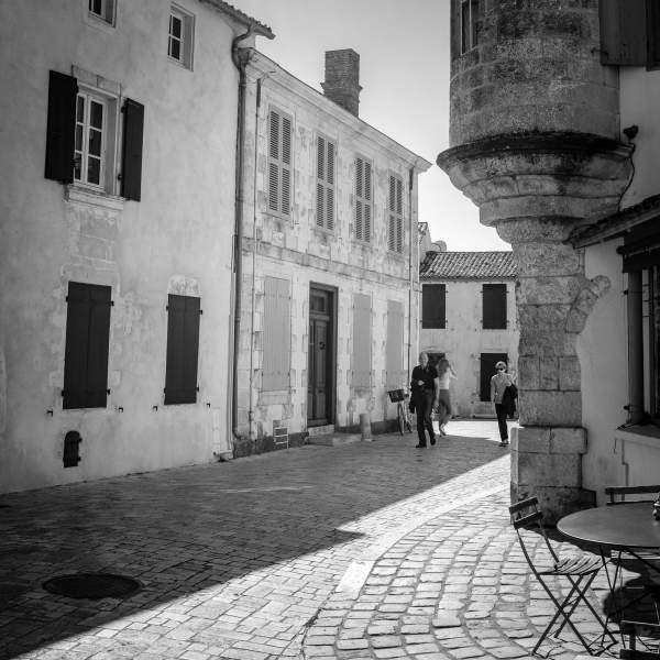 Cobbled Street - Place Carnot - Ars-en-Ré.