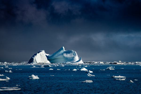 East Greenland Iceberg Evening Light