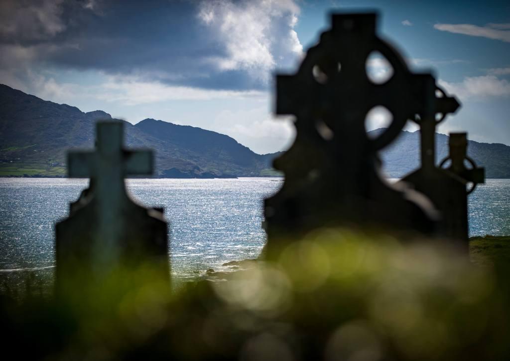 Gravestones by the sea Kilcatherine West Cork