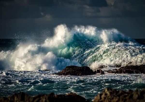 Massive Wave Sunlight Allihies West Cork