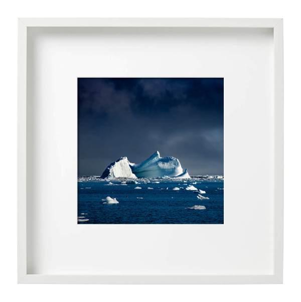 Iceberg East Greenland White Square Frame