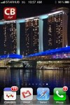 New iPhone Wallpaper with Night View of Marina Bay Sands Singapore