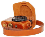 Megagear MG433 Ever Ready Protective Leather Camera Case, Bag for Canon PowerShot G7 X Digital Camera (Light Brown )