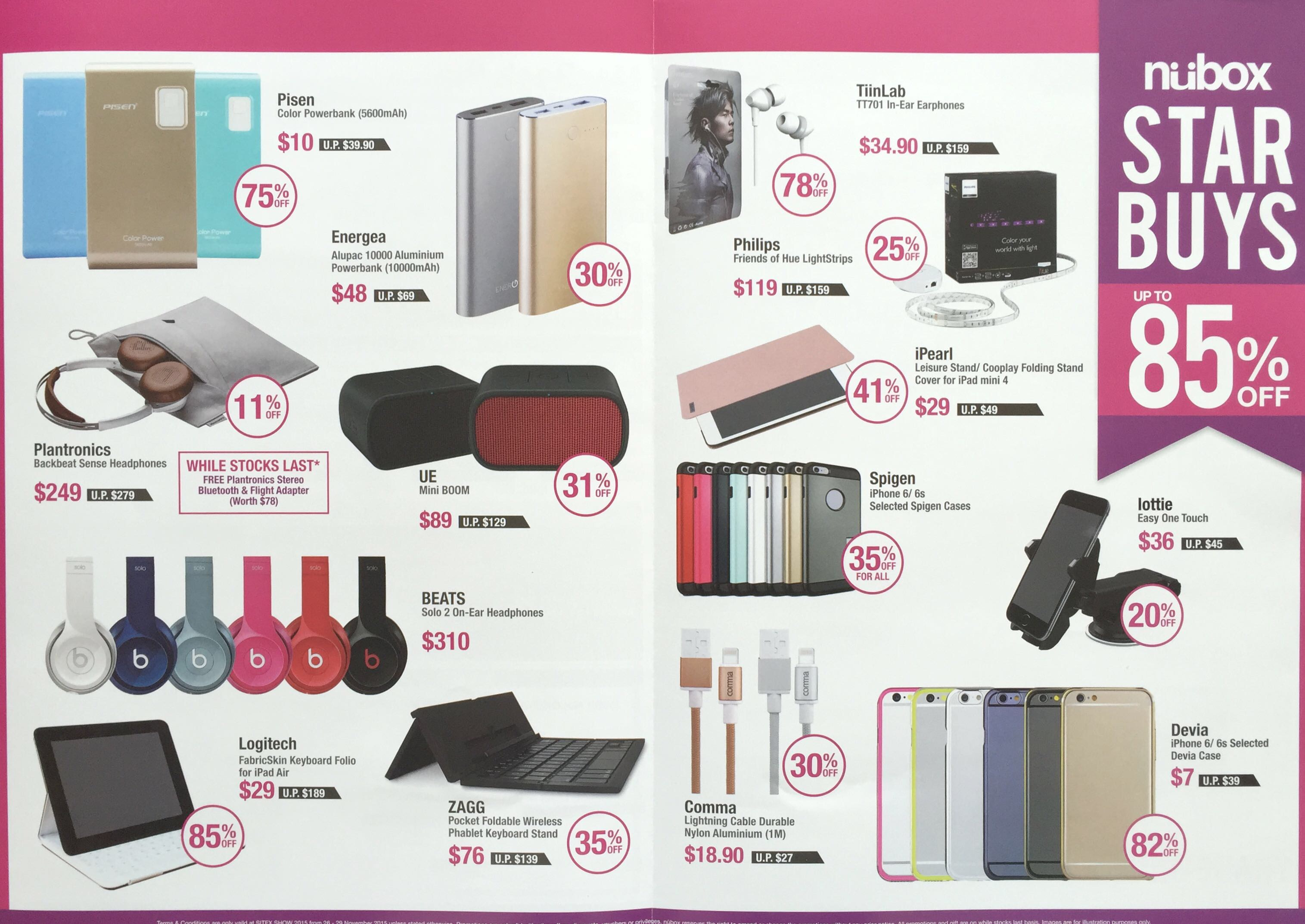 NUBOX @ SITEX 2015 - Star Buys up to 85% off